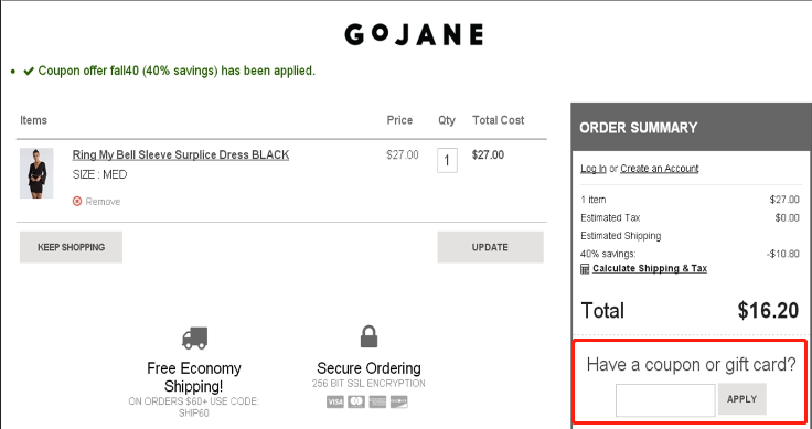 Gojane Coupons 01
