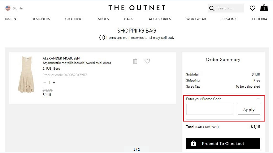 The Outnet Coupons 01