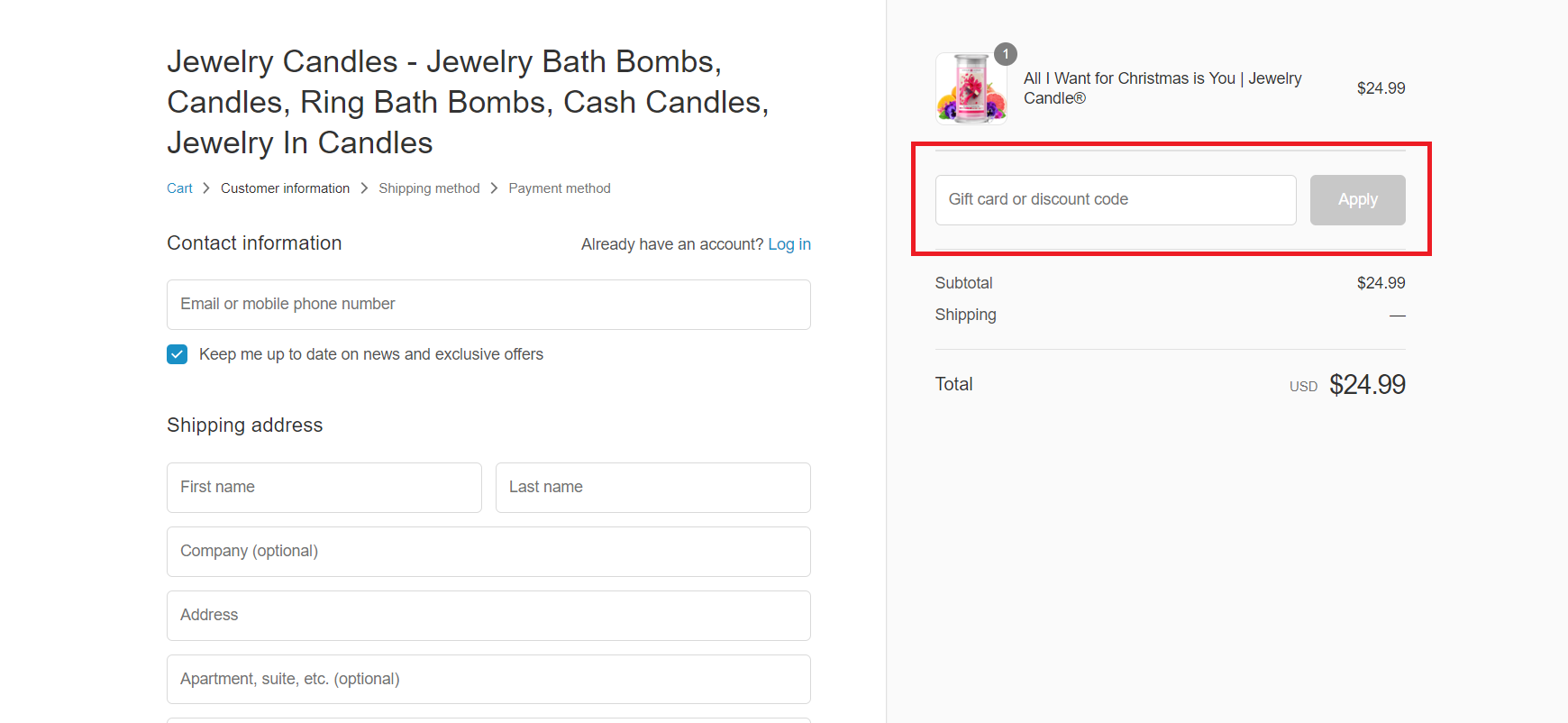 Jewelry Candles Coupons